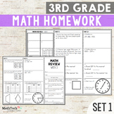 Third Grade Math Homework - EDITABLE