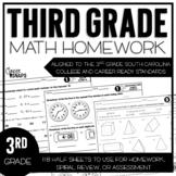 Third Grade Math Homework {South Carolina College and Care