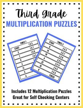 Third Grade Math Puzzles - Math Games