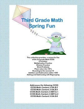 Third Grade Math Review- Worksheets that Address 5 of the