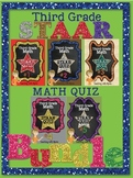 Third Grade Math STAAR Quiz Bundle