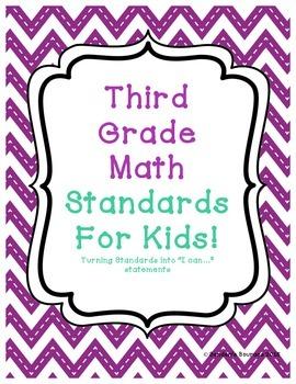 Third Grade Math Standards Into Statements