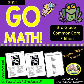 GO MATH! Third Grade Math Vocabulary Crossword Puzzles Ful
