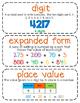 Third-Grade Math Vocabulary {My Math Series - Unit 1}{CCSS