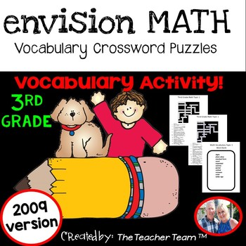 enVision Third Grade Math Vocabulary Crossword Puzzles Top