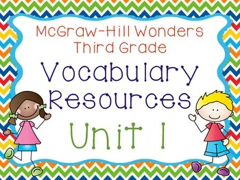 Third Grade McGraw-Hill Wonders Vocabulary Resources-Unit 1
