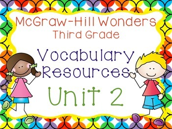 Third Grade McGraw-Hill Wonders Vocabulary Resources-Unit 2