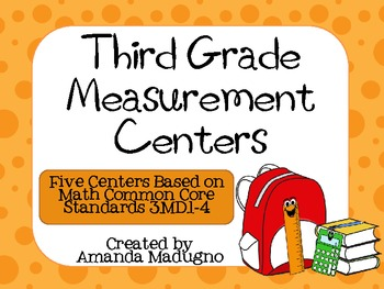 Third Grade Measurement Centers - 3.MD.1-4