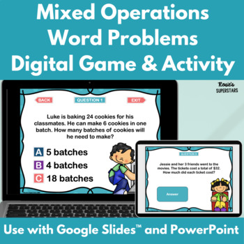 Third Grade Mixed Operations Word Problem PowerPoint Game