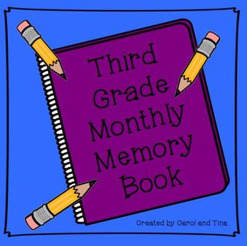 Third Grade Monthly Memory Book