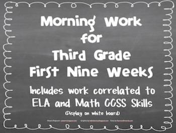 Third Grade Morning Work (First Nine Weeks)