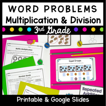 Third Grade Multiplication & Division Word Problems- Commo