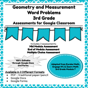 Engage NY Third Grade New York State Math Module 7 Assessment