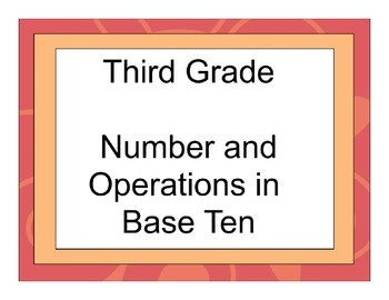 Third Grade Number and Operations in Base Ten