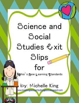 Third Grade Ohio Content Standard Exit Slips for Social St