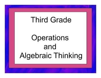 Third Grade Operations and Algebraic Thinking