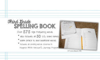 Third Grade Personal Journeys Spelling Book