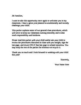 Third Grade Procedures Guide