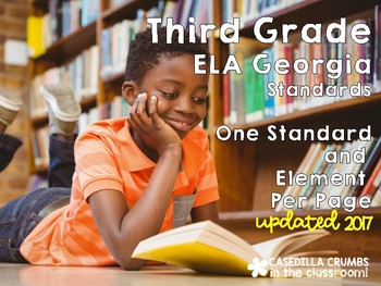 Third Grade Reading Language Arts Common Core Standards on