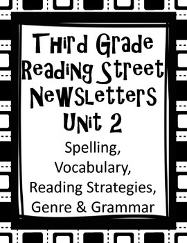 Third Grade Reading Street Newsletters Unit 2 Word Lists