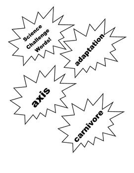 Third Grade Science Vocabulary