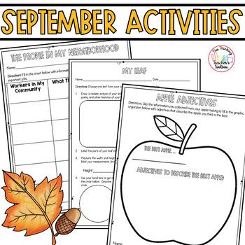 Third Grade September Activities CCSS Aligned: Apples, Lab