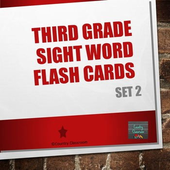 Third Grade Sight Word Flashcards Set 2