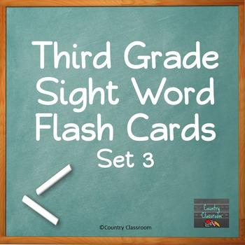 Third Grade Sight Word Flashcards Set 3