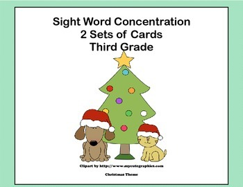 Third Grade Sight Word Printable Concentration Game-Christ