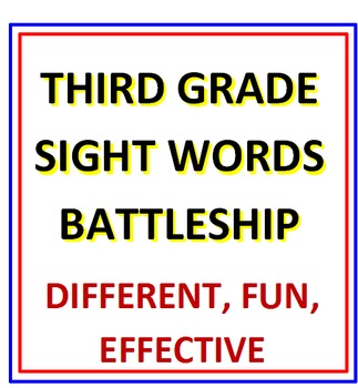 Third Grade Sight Words Battleship