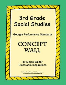 Third Grade Social Studies Concept Wall