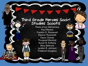 Third Grade Social Studies Scoot Bundle- Great for Georgia