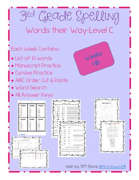 Third Grade Spelling- Weeks 1-18