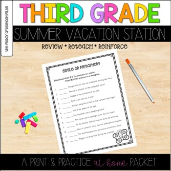 Third Grade Summer Vacation Station