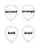 Third Grade Target Vocabulary