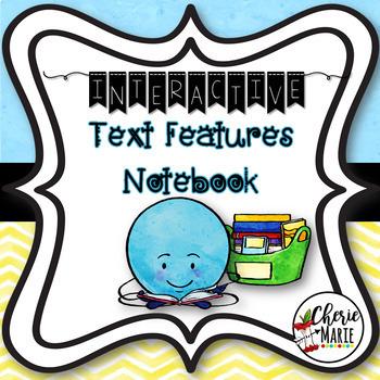 FREE Interactive Notebook: Text Features RI3.5 RI3.7 RI4.7