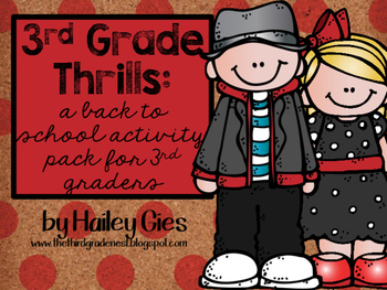 Third Grade Thrills: A Beginning of the Year Activity Pack