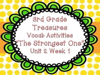 Third Grade Treasures Strongest One Unit 2 Week 1 Vocab Ga