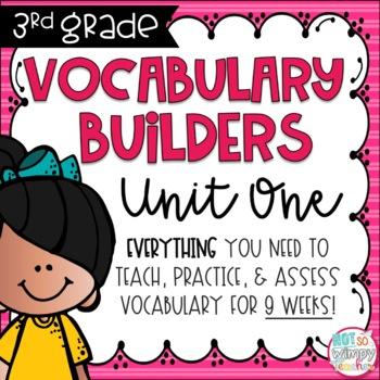 Third Grade Vocabulary Builders Unit 1