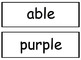 Third Grade Wonders Spelling Words - Unit 6