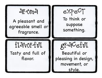 Third Grade Wonders Vocabulary Cards - Unit 4