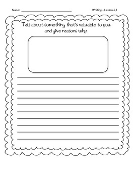 Third Grade Wonders Writing - Unit 6