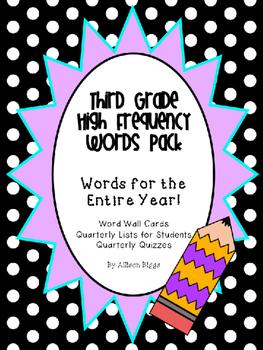 Third Grade Word Wall Pack