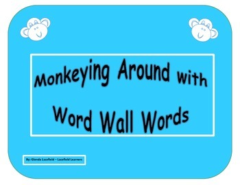 Monkeying Around with Word Wall Words - 3rd Grade