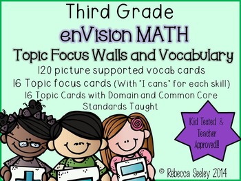 Third Grade: enVisions Focus Walls and Vocabulary Cards