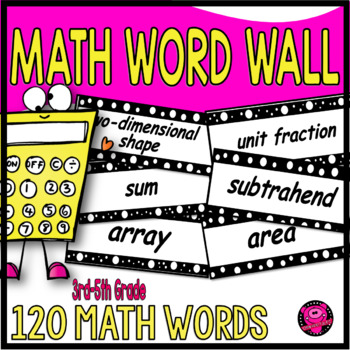 THIRD GRADE MATH VOCABULARY WORD WALL SET