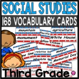 SOCIAL STUDIES Common Core WORD WALL Set for 3rd Grade