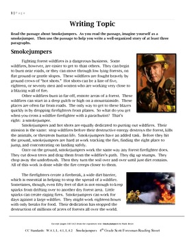 Common Core/PARCC Writing Prompt:  Smokejumpers