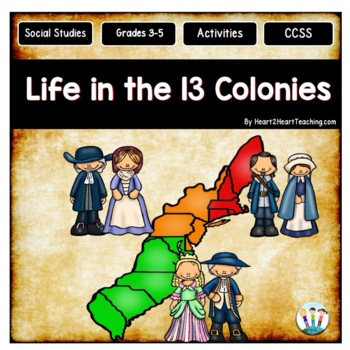 Life in the 13 Colonies with Passages, Activities & Vocabulary {75 pages!}