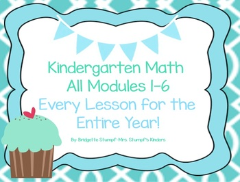This Bundle Contains ALL of the Kindergarten Math Modules